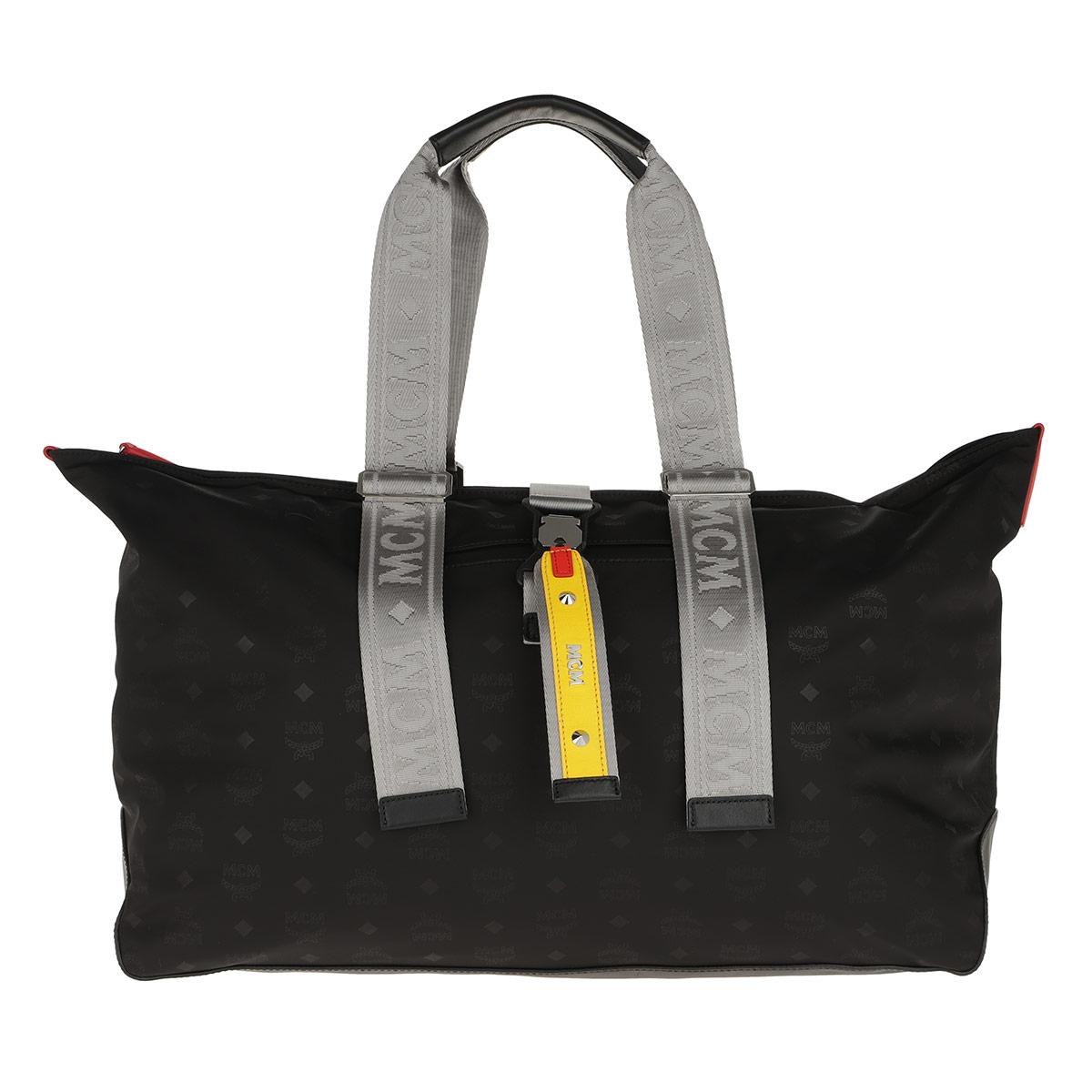 MCM Reisetasche - Resnick Monogrammed Nylon Shopper Xlarge Black - in schwarz - für Damen