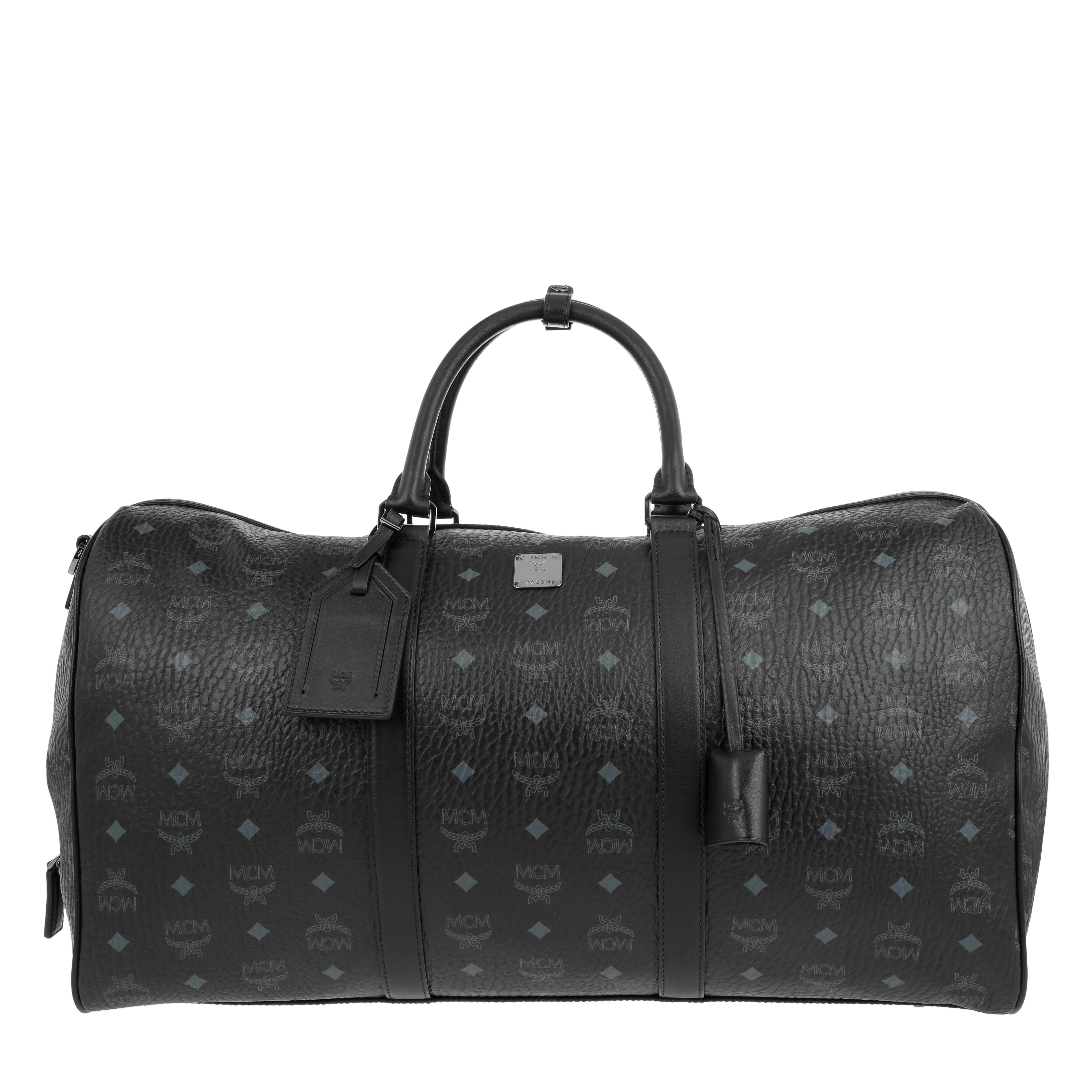 MCM Reisetasche - Traveler Visetos Weekender Large Black - in schwarz - für Damen