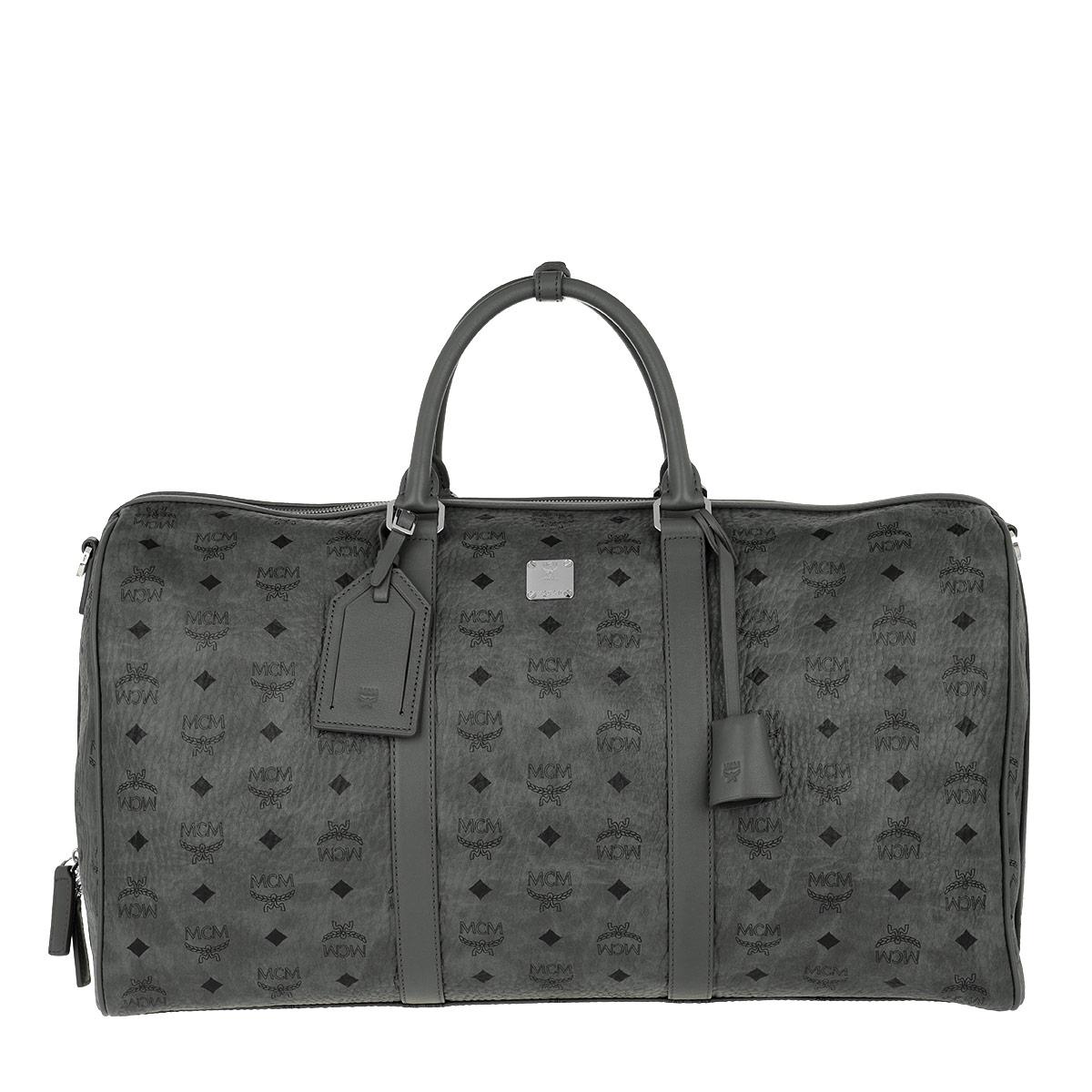 MCM Reisetasche - Traveler Visetos Weekender Large Phantom Grey - in grau - für Damen