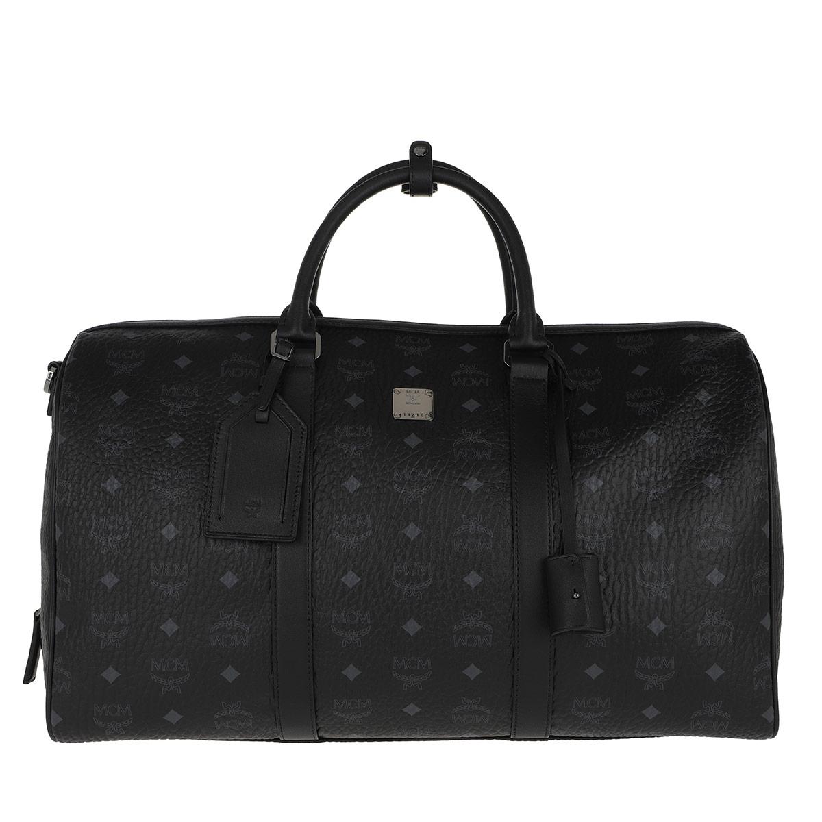 MCM Reisetasche - Traveler Visetos Weekender Medium Black - in schwarz - für Damen