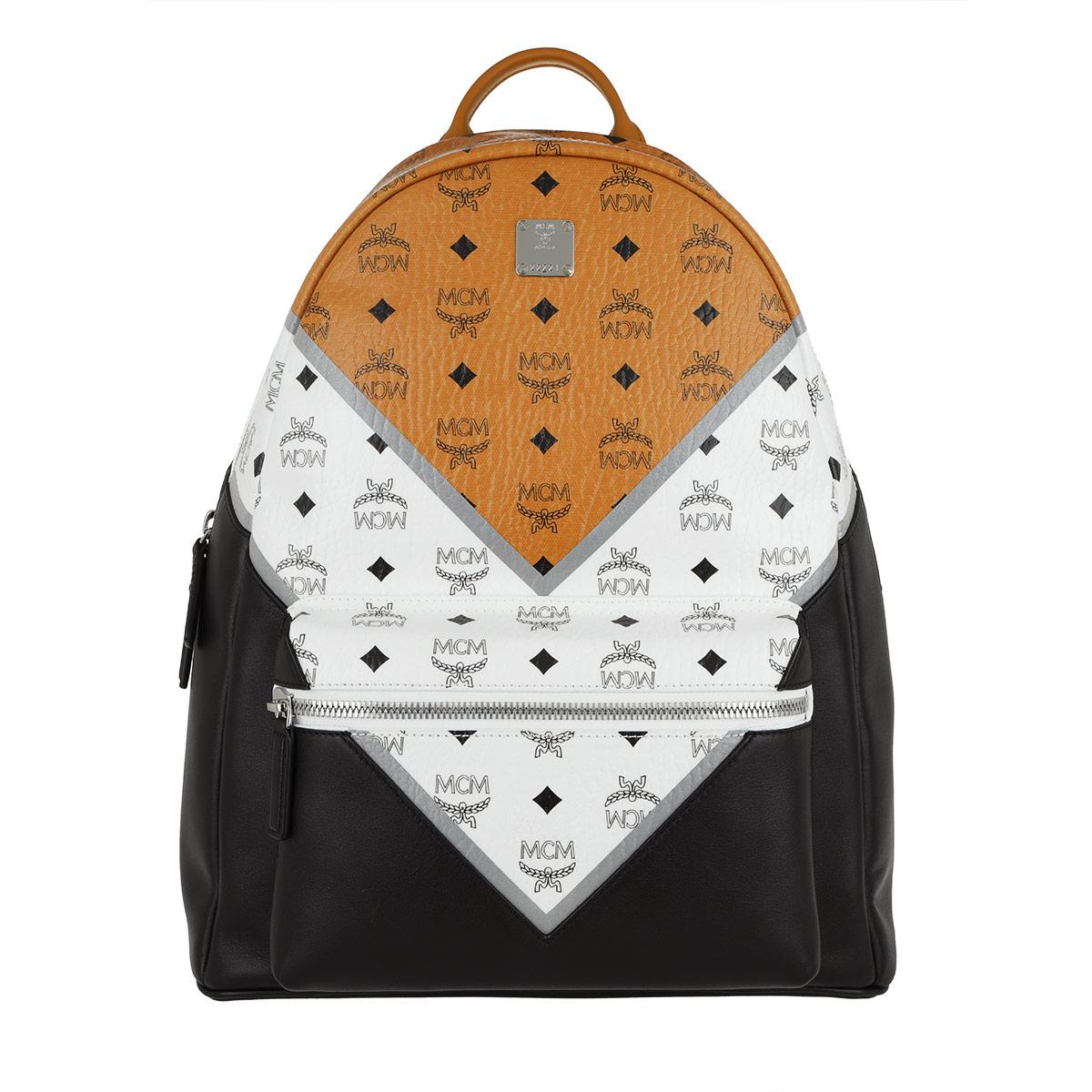 MCM Rucksack - Stark M Move Visetos Backpack Cognac/White/Black - in bunt - für Damen