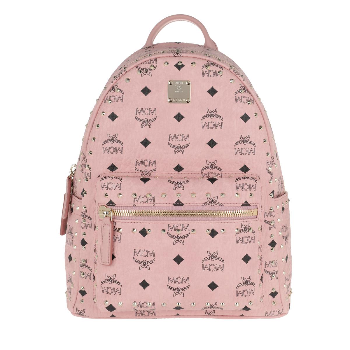 MCM Rucksack Stark Outline Studs Backpack Small Soft Pink in rosa für Damen