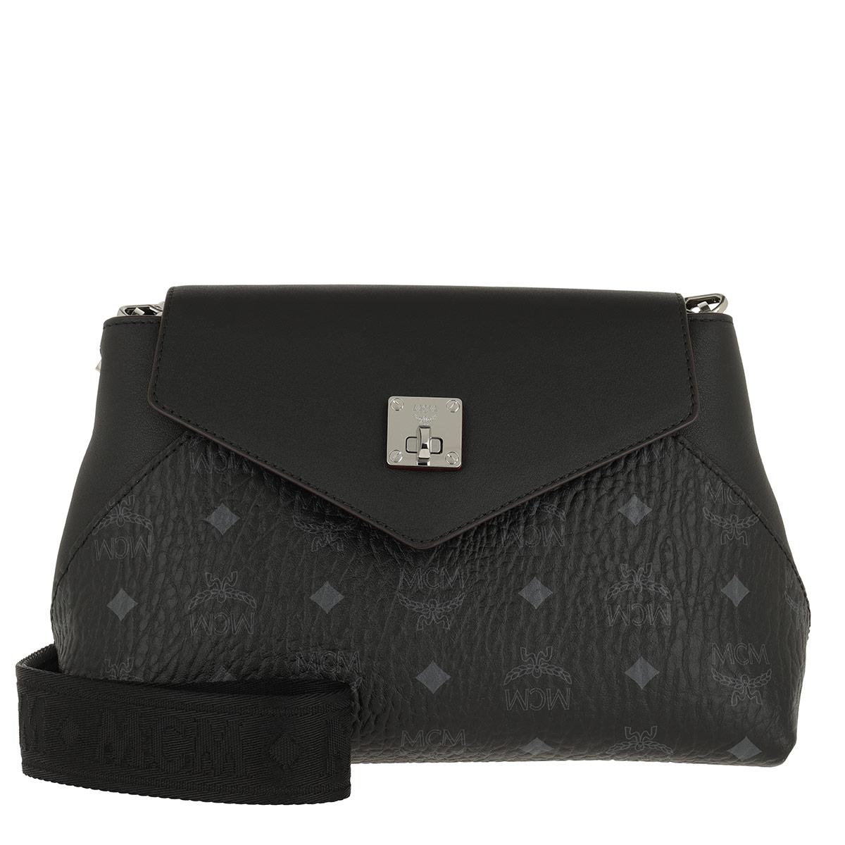 MCM Satchel Bag - Essential Visetos Original Crossbody Small Black - in schwarz - für Damen