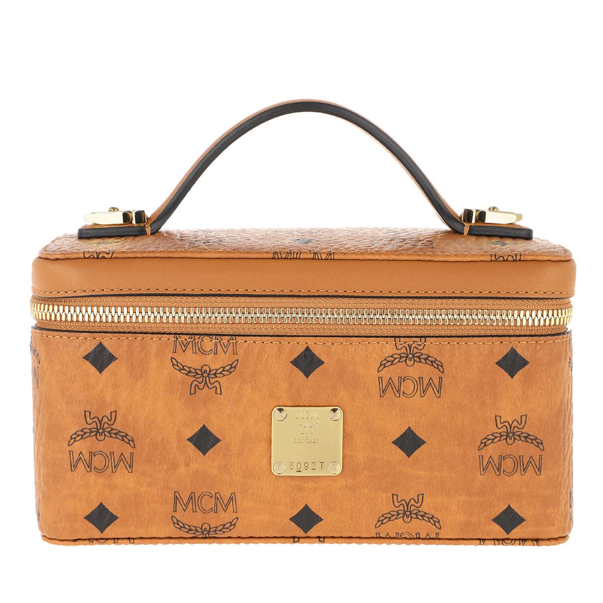 MCM Umhängetasche - Visetos Original Cosmetic Case Cognac - in cognac - für Damen