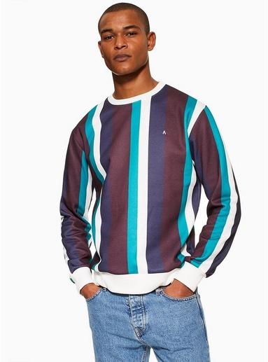 MULTIANTIOCH Sweatshirt mit Streifendesign, bunt, MULTI