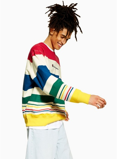 MULTICHAMPION Sweatshirt mit Blockfarbendesign und Logo, MULTI