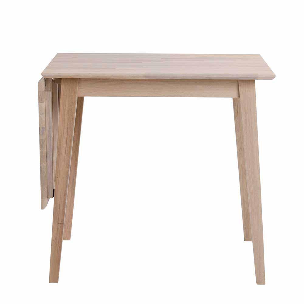 Massivholztisch aus Eiche White Wash geölt verlängerbar
