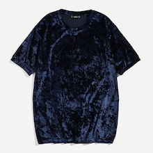 Men Crushed velvet Tee