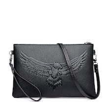 Men Eagle Embossed Clutch Bag