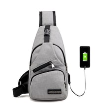 Men USB Charging Port Bum Bag