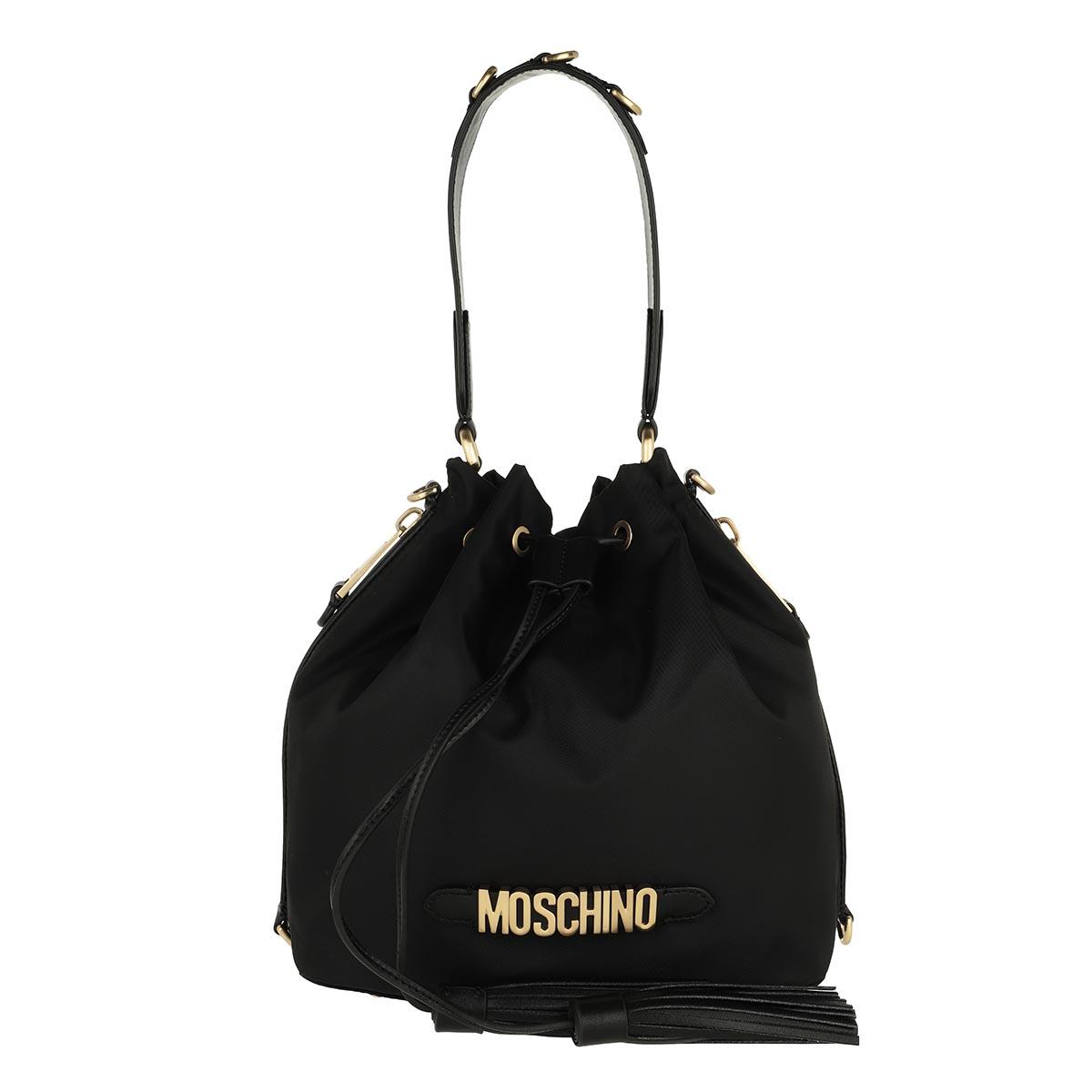 Moschino Beuteltasche - Logo Bucket Bag Black - in schwarz - für Damen