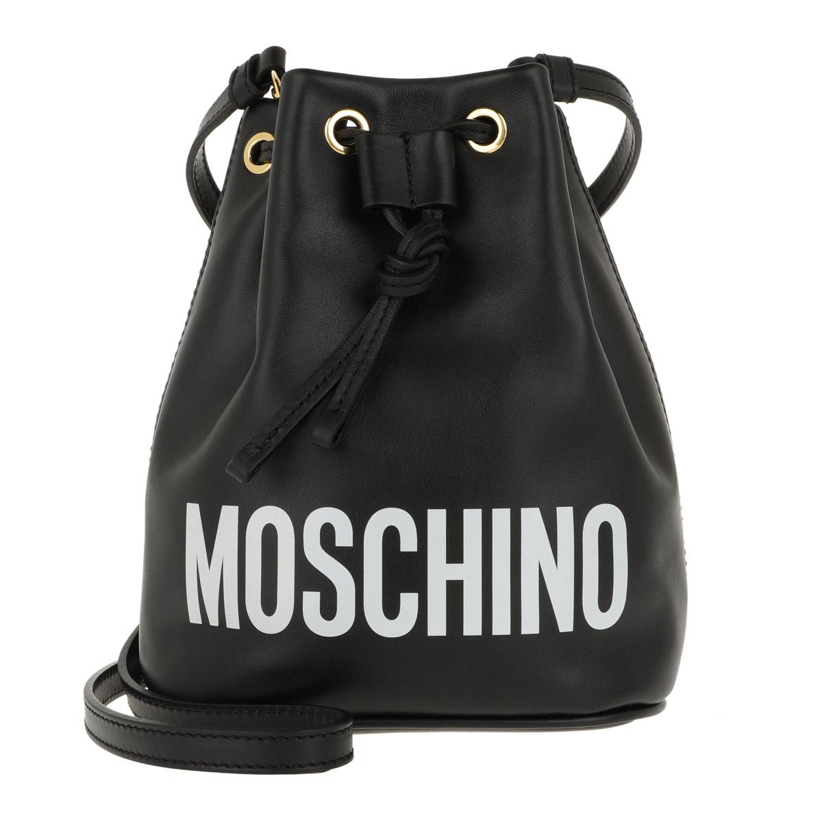 Moschino Beuteltasche - Logo Drawstring Bag Small Fantasia Nero - in schwarz - für Damen
