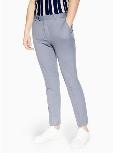 NAVY BLAUEng geschnittene, strukturierte Premium-Hose, blau, NAVY BLAU