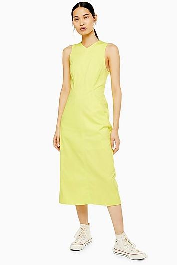 **Neonfarbenes Kleid von Boutique - Gelb