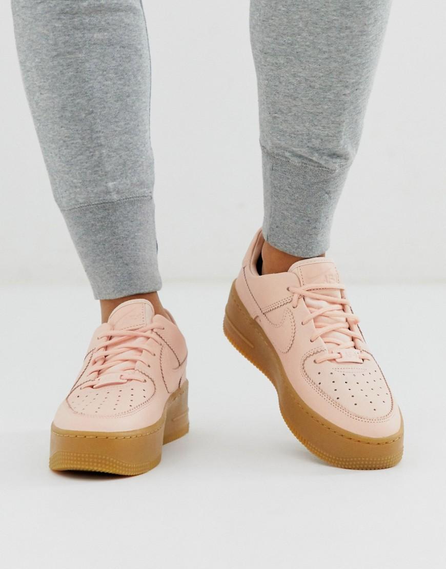 Nike – Air Force 1 – Sneaker aus Wildleder in Senfgelb mit Gummisohle