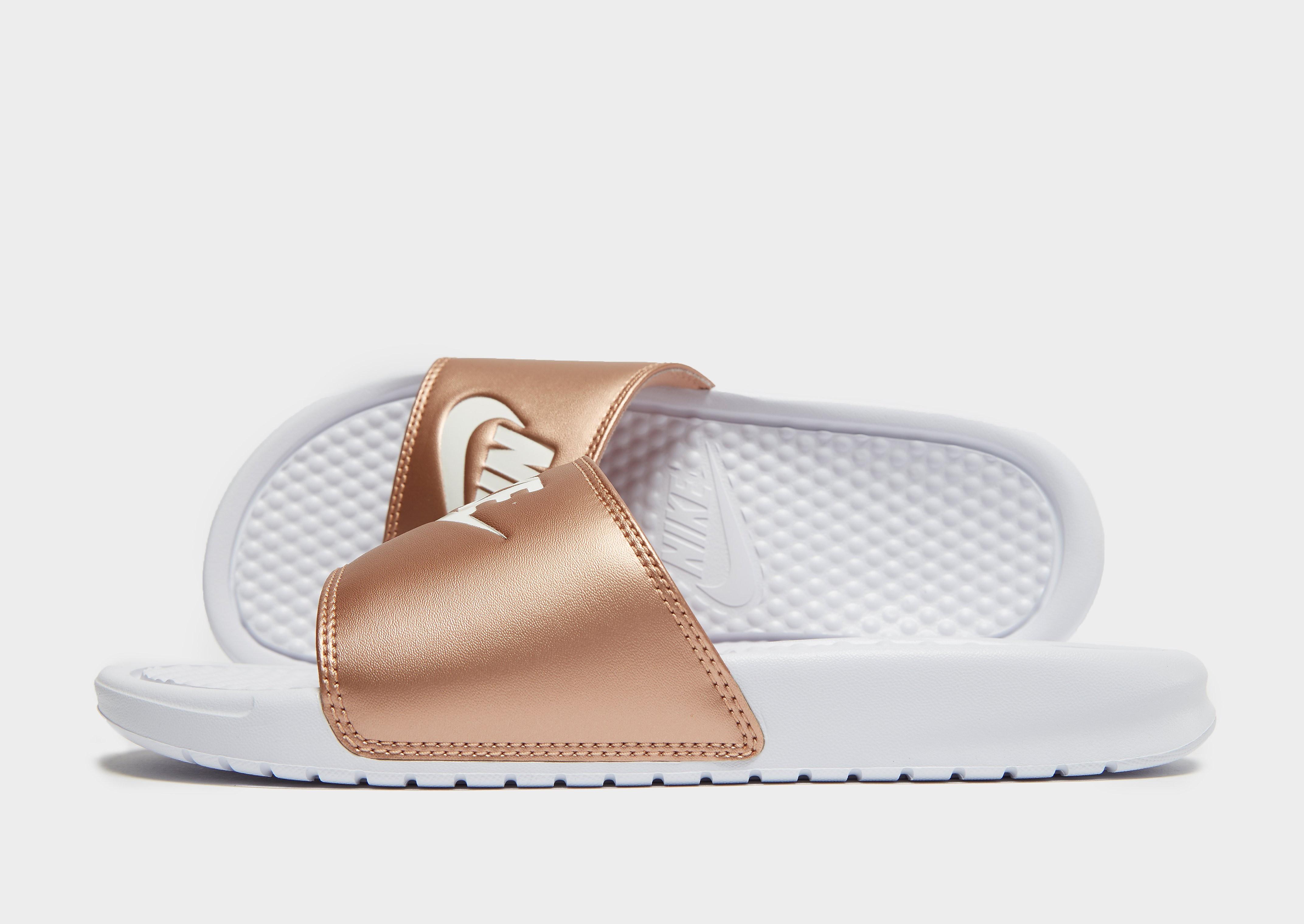 Nike Benassi Just Do It Slides Damen - Weiss - Womens, Weiss