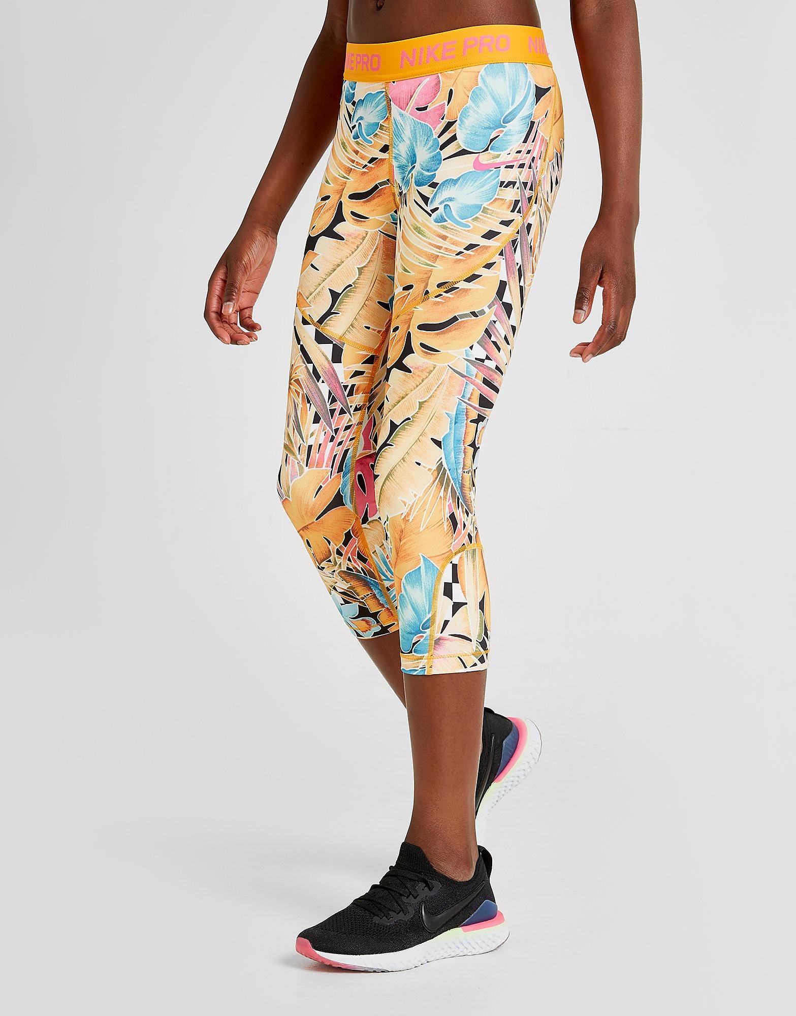 Nike Print Capri Leggins Damen - Gelb - Kids, Gelb