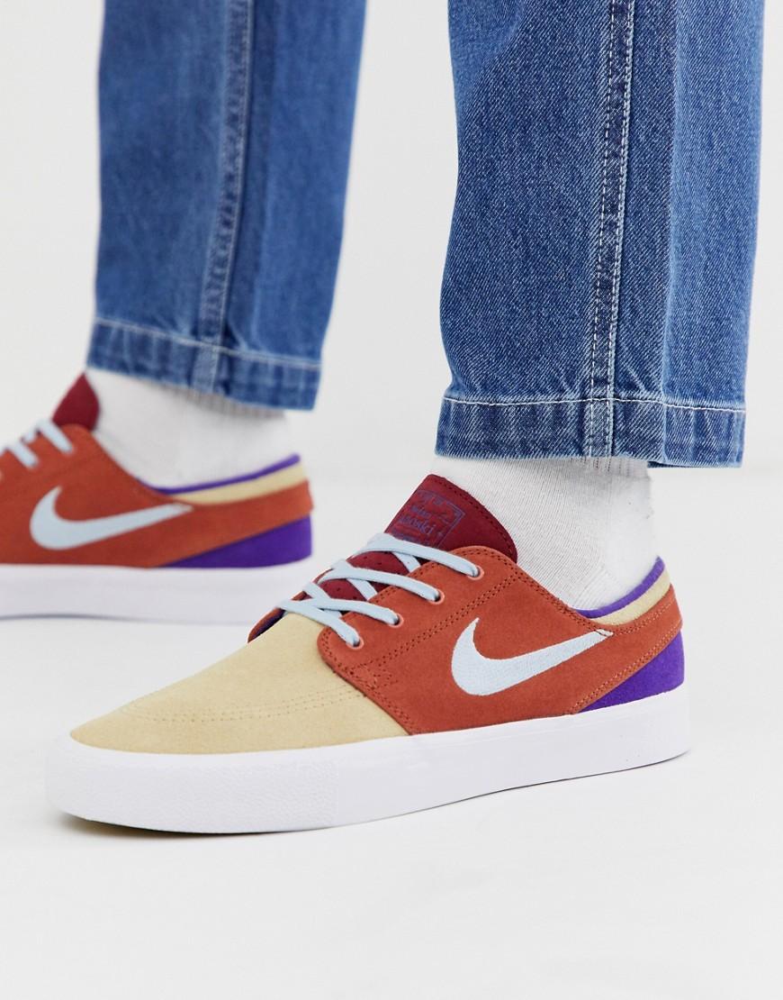 Nike SB Patchwork Zoom Janoski Sneaker Mehrfarbig