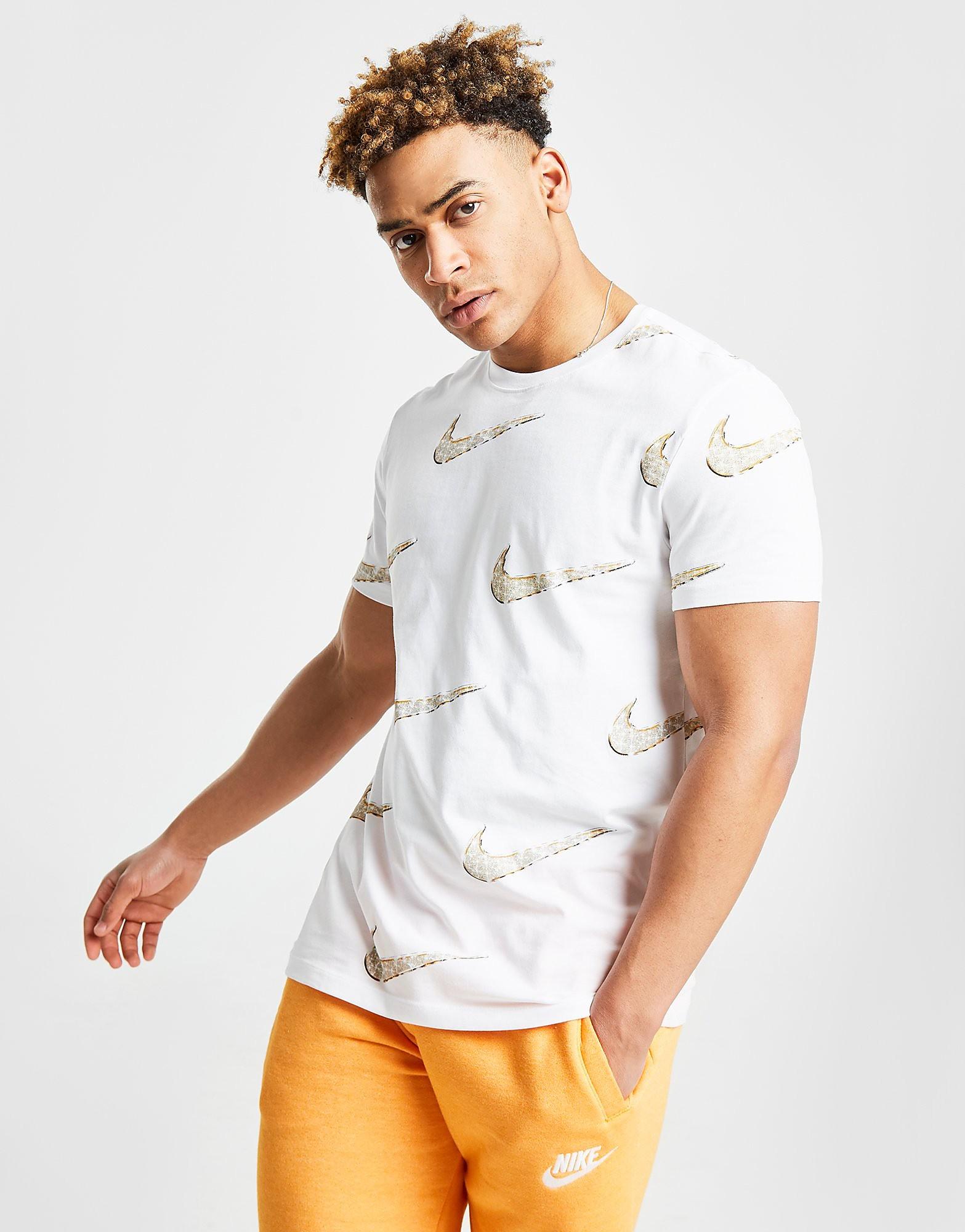 Nike Swoosh T-Shirt Herren - Weiss - Mens, Weiss