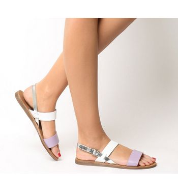 Office Honey Sling Back Sandal LILAC LEATHER WITH WHITE SILVER MIX,Hellbraun,Schwarz,Lila,Weiß