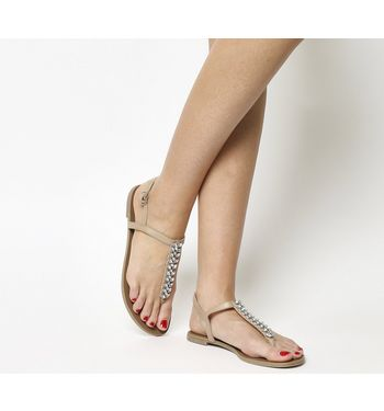 Office Sprinkles Toe Post Sandals NUDE,Naturfarben