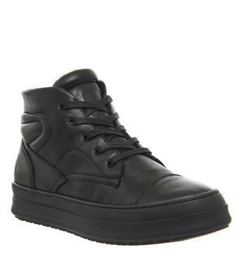 Oki Kutsu Ichi Hi Top Sneaker BLACK MONO LEATHER,Schwarz