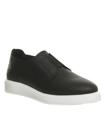 Oki Kutsu Kiku Elastic Sneaker BLACK LEATHER,Schwarz