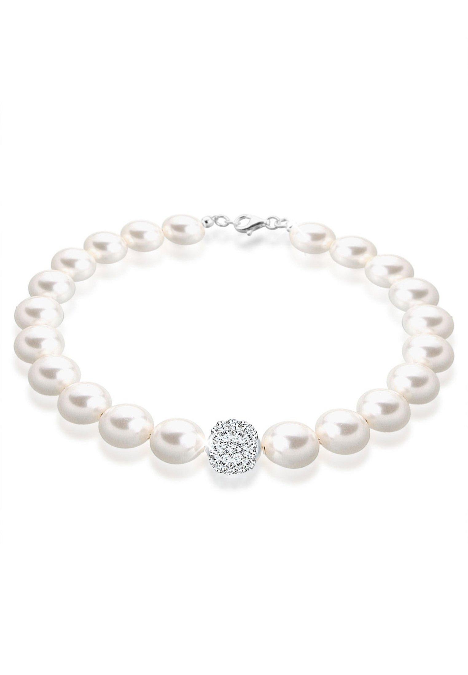 PERLU Perlenarmband Perlen Swarovski Kristalle 925 Sterling Silber