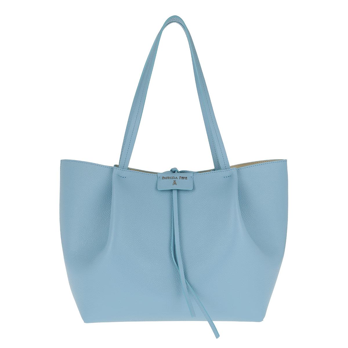 Patrizia Pepe Shopper - Logo Shopping Bag Cosmic Blue - in blau - für Damen