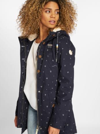 Ragwear Frauen Winterjacke Sunny Organic in blau