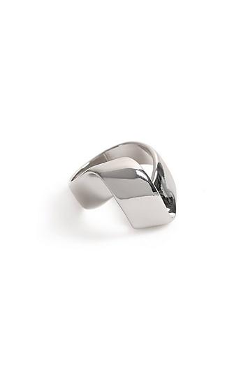 **Ring in Faltoptik - Silber