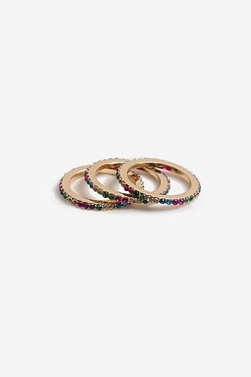 **Ring in Regenbogenfarben mit Strasssteinen - Multi