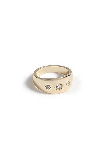 **Ring mit drei Steinen - Gold