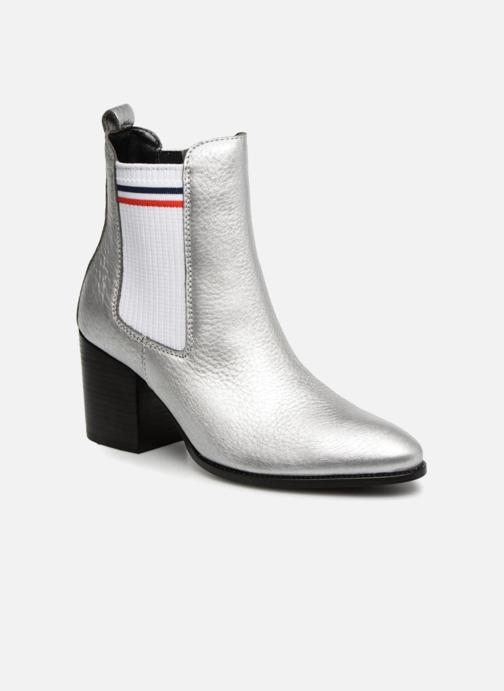 SALE -30 Tommy Hilfiger - SOCK SHINY MID HEEL CHELSEA BOOT - SALE Stiefeletten & Boots für Damen / silber