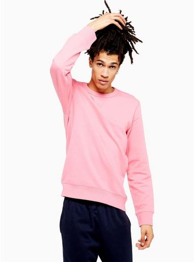 SELECTED HOMME Sweatshirt aus Biobaumwolle, pink, PINK