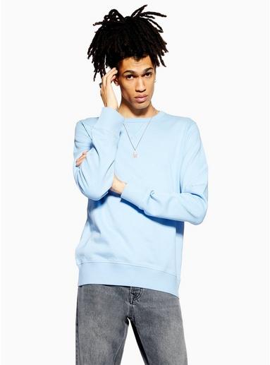 SELECTED HOMME Sweatshirt, hellblau, BLAU