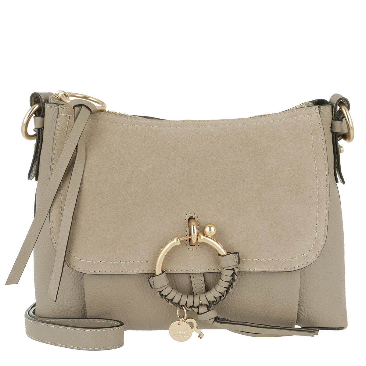 See By Chloé Umhängetasche - Joan Grained Shoulder Bag Leather Motty Grey - in grau - für Damen