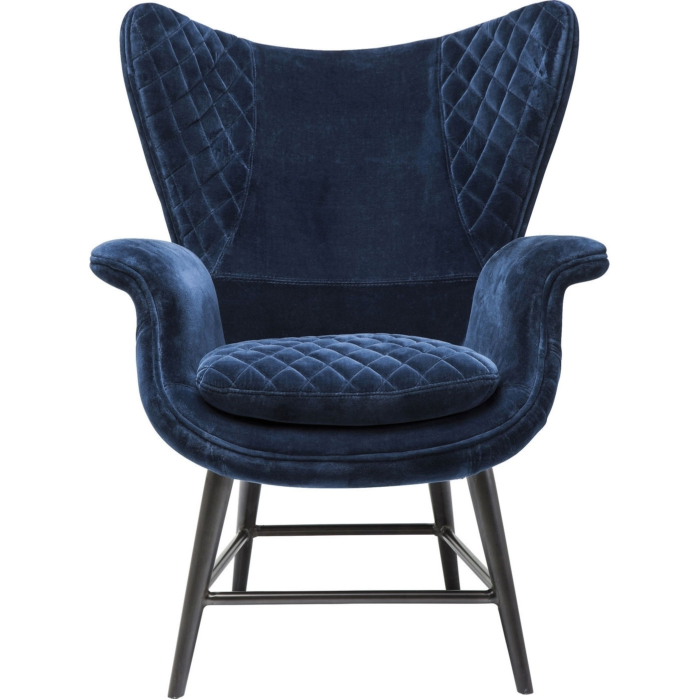 Sessel Tudor blau Samt