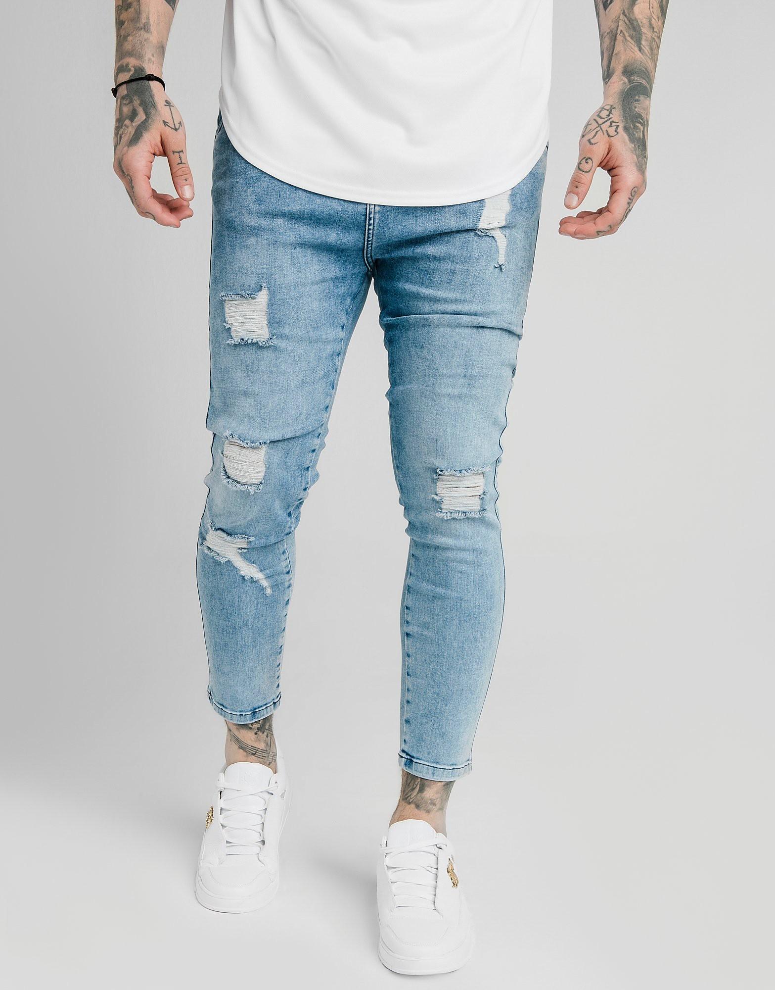 SikSilk Skinny Jeans Herren - Blau - Mens, Blau