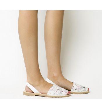 Solillas Sandal FLORAL PRINT,Schwarz,Hellbraun,Bunt,Rosa,Grau,Naturfarben,Gelb,Rot,Weiß