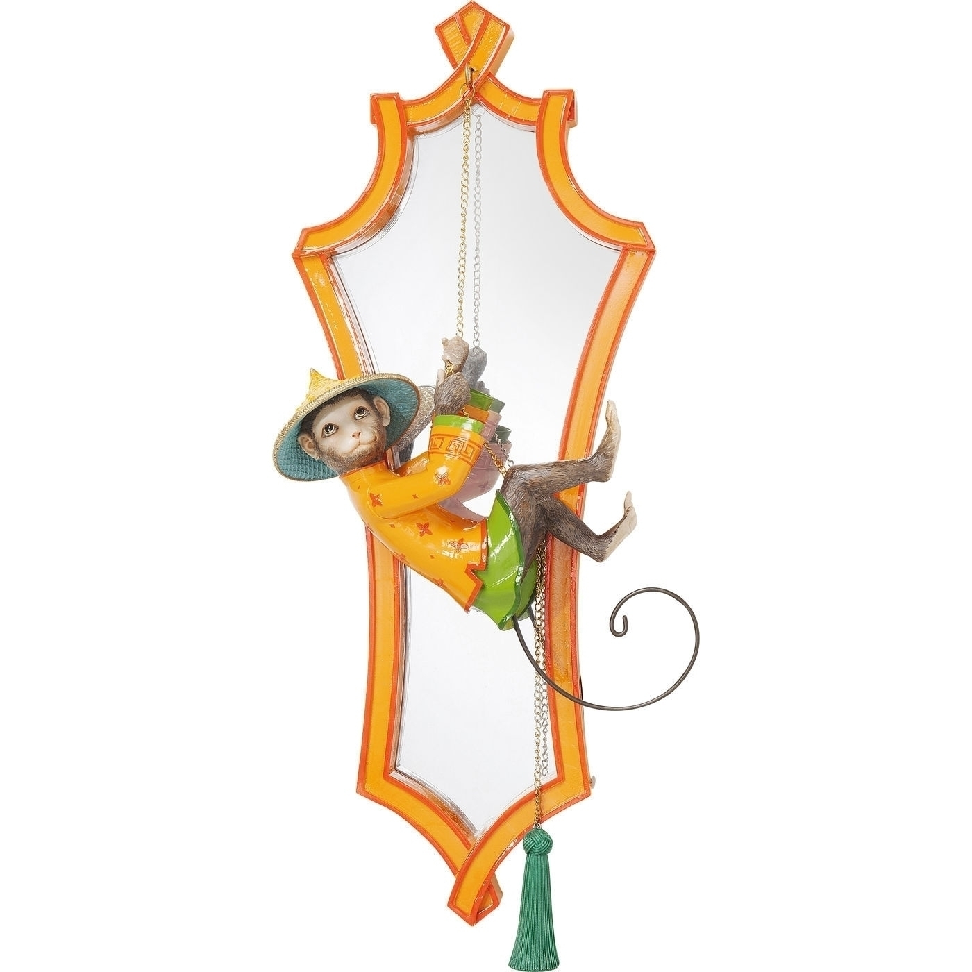 Spiegel Monkey Orange 53x21cm