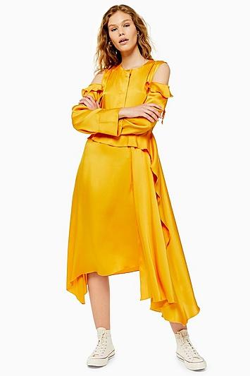 **Stand Out Waterfall Kleid von Boutique - Gelb