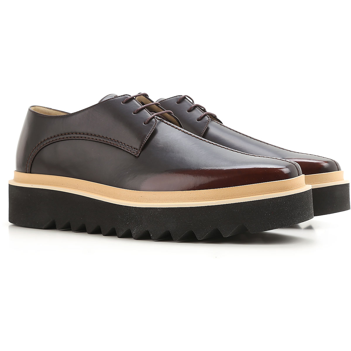 Stella McCartney Lace Up Shoes for Men Oxfords, Derbies and Brogues On Sale in Outlet, Ebony, Leather, 2017, 6.75 7 7.5 8 8.5 9.25 9.5