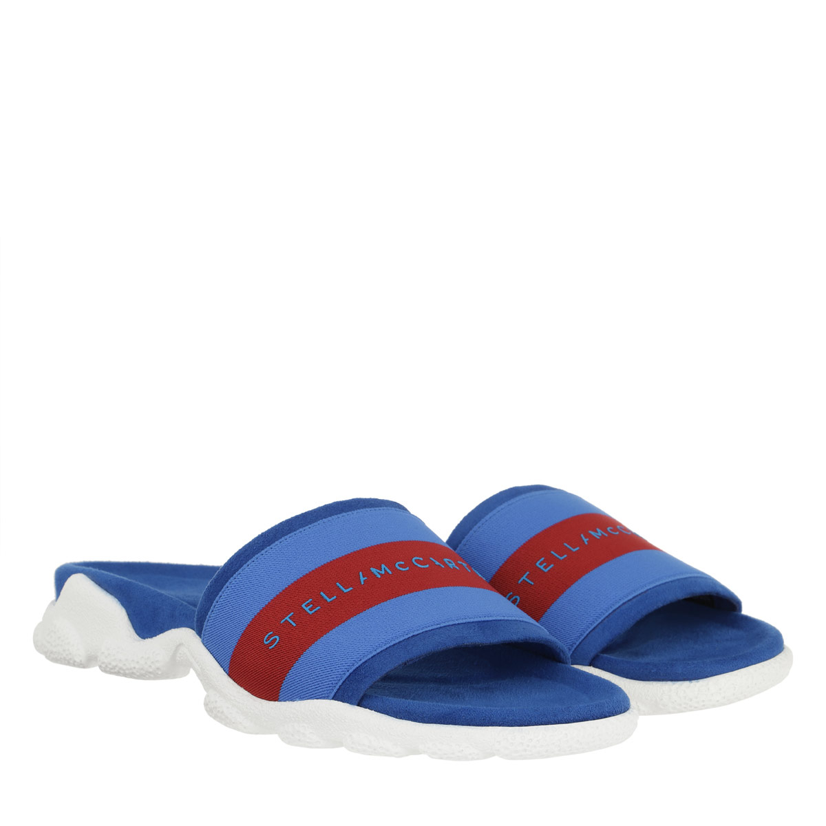 Stella McCartney Sandalen - Striped Slides Blue - in blau - für Damen