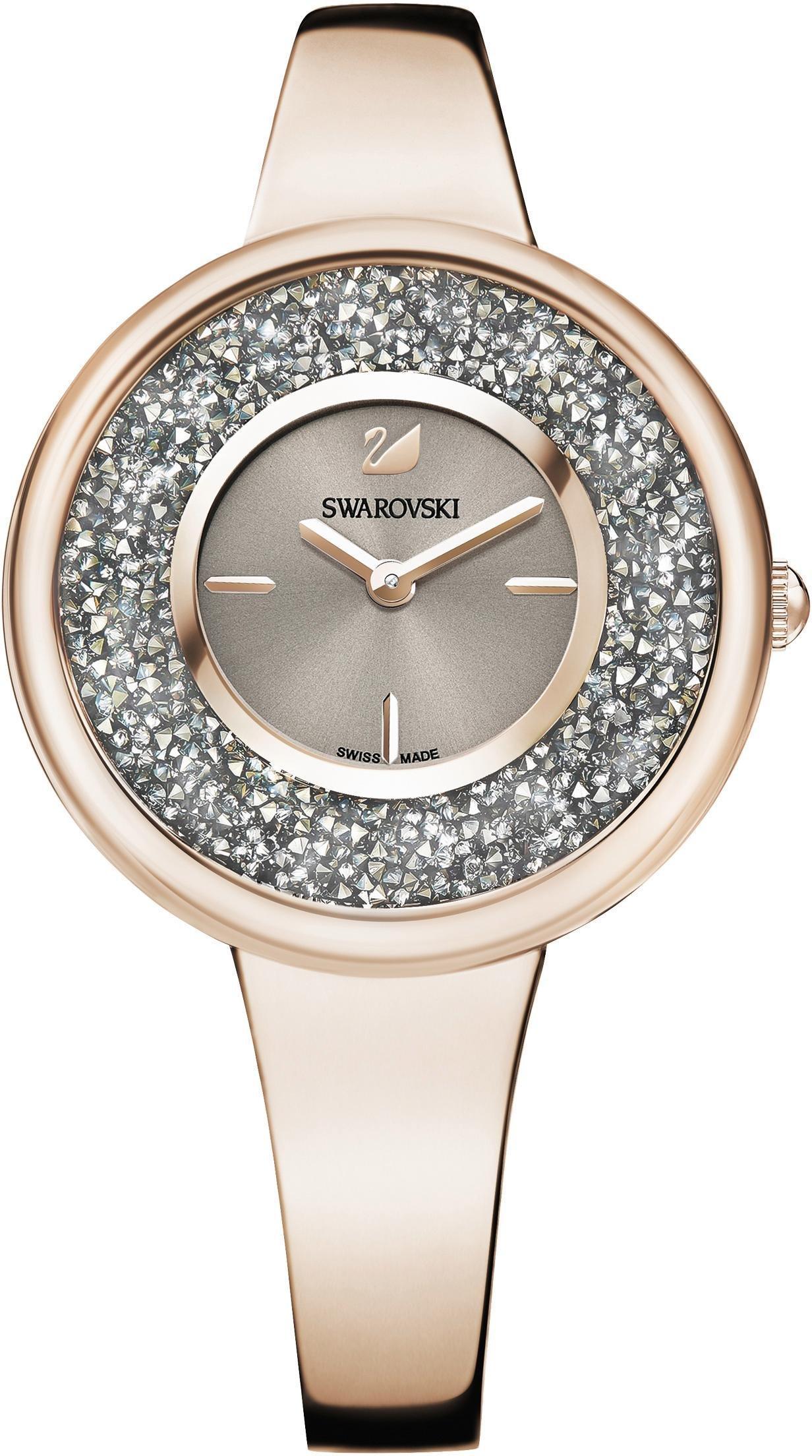 Swarovski Schweizer Uhr Crystalline Pure Uhr Metallarmband Farbton Champagne Gold 5376077