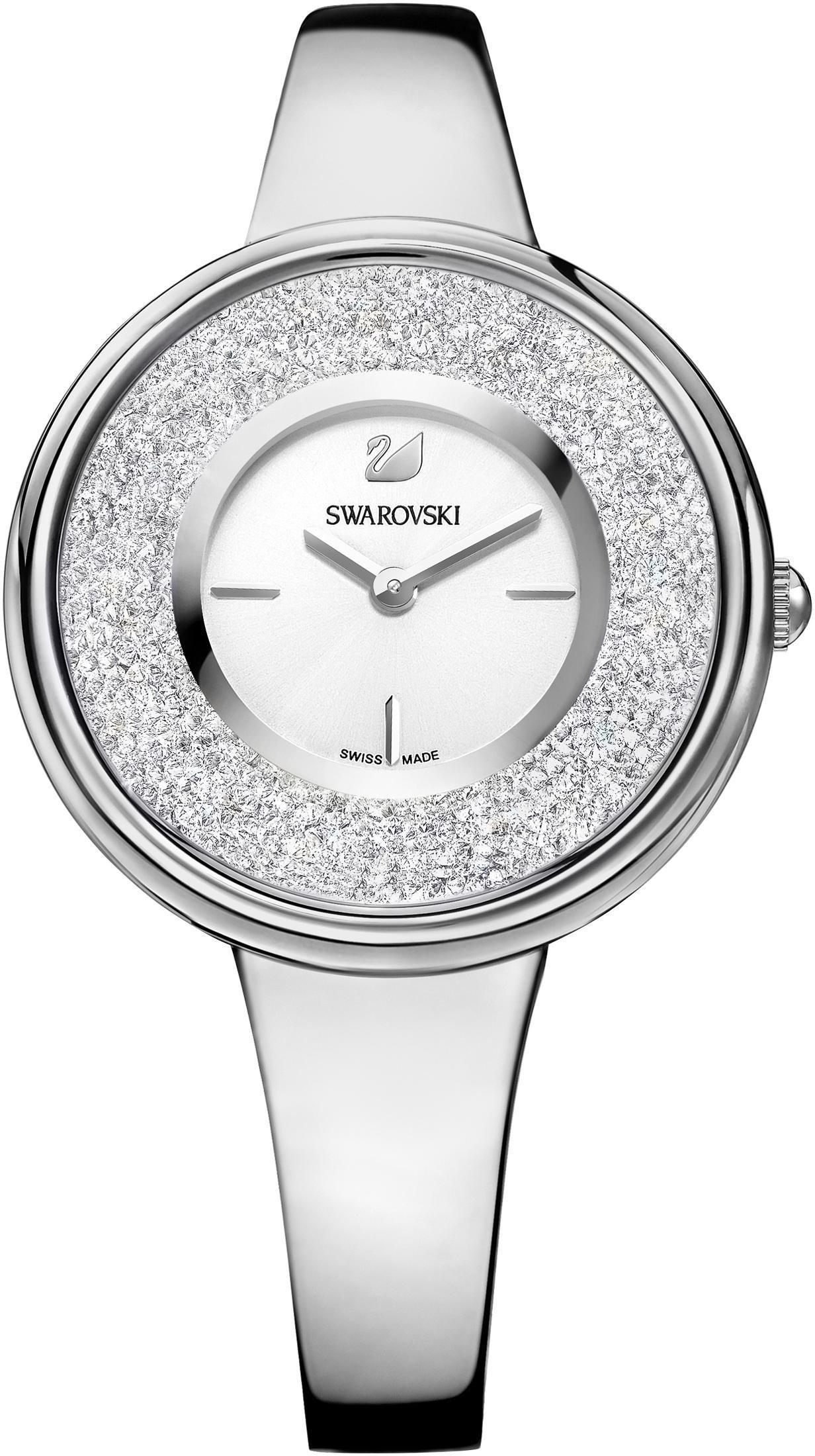Swarovski Schweizer Uhr Crystalline Pure Uhr Metallarmband weiss silberfarben 5269256