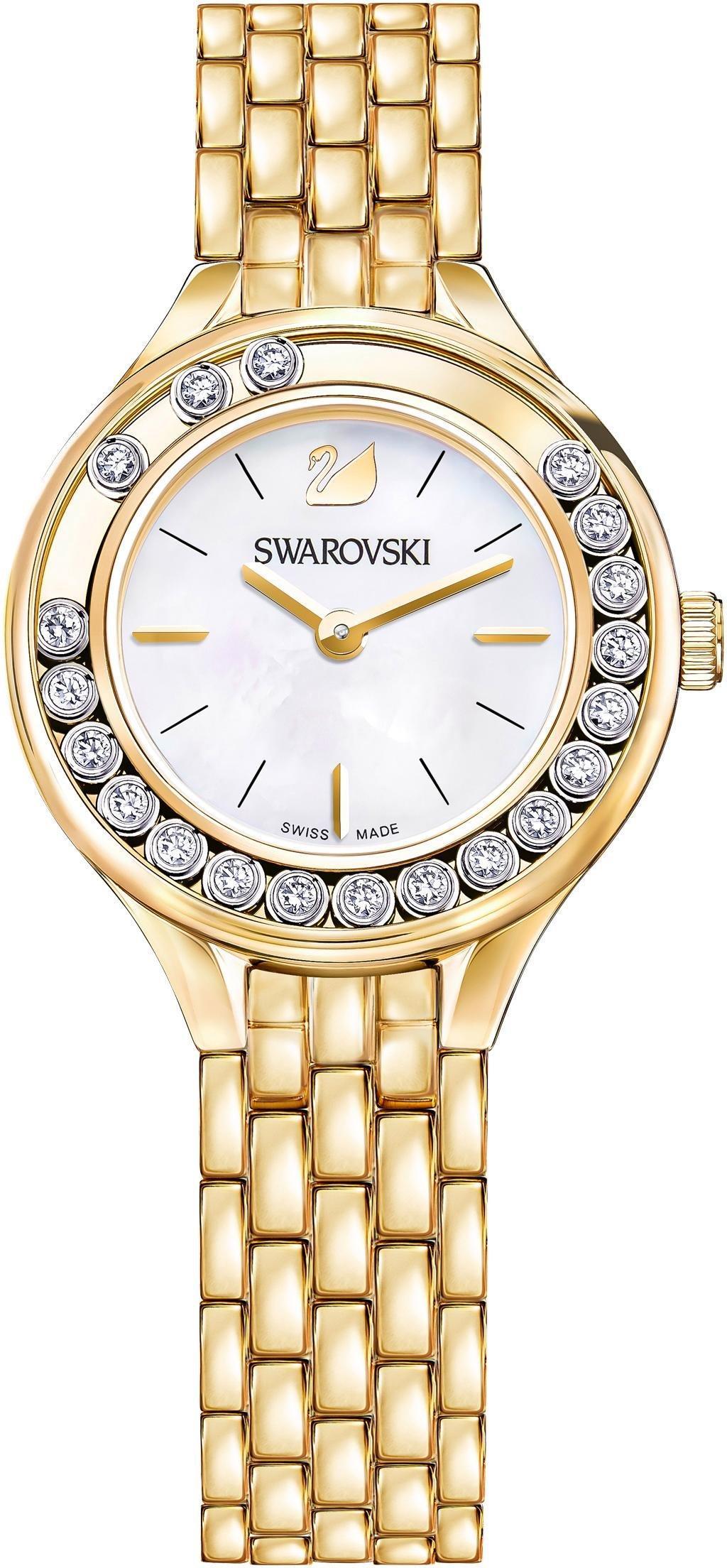 Swarovski Schweizer Uhr Lovely Crystals Mini Uhr Metallarmband goldfarben 5242895