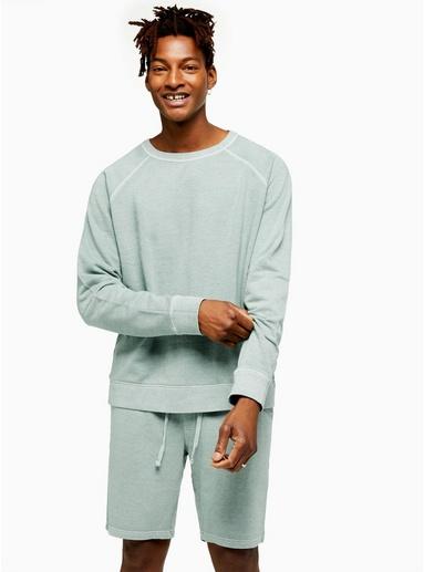 Sweatshirt, meliertes Mintgrün, GRÜN