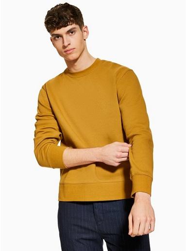 Sweatshirt, senfgelb, GELB