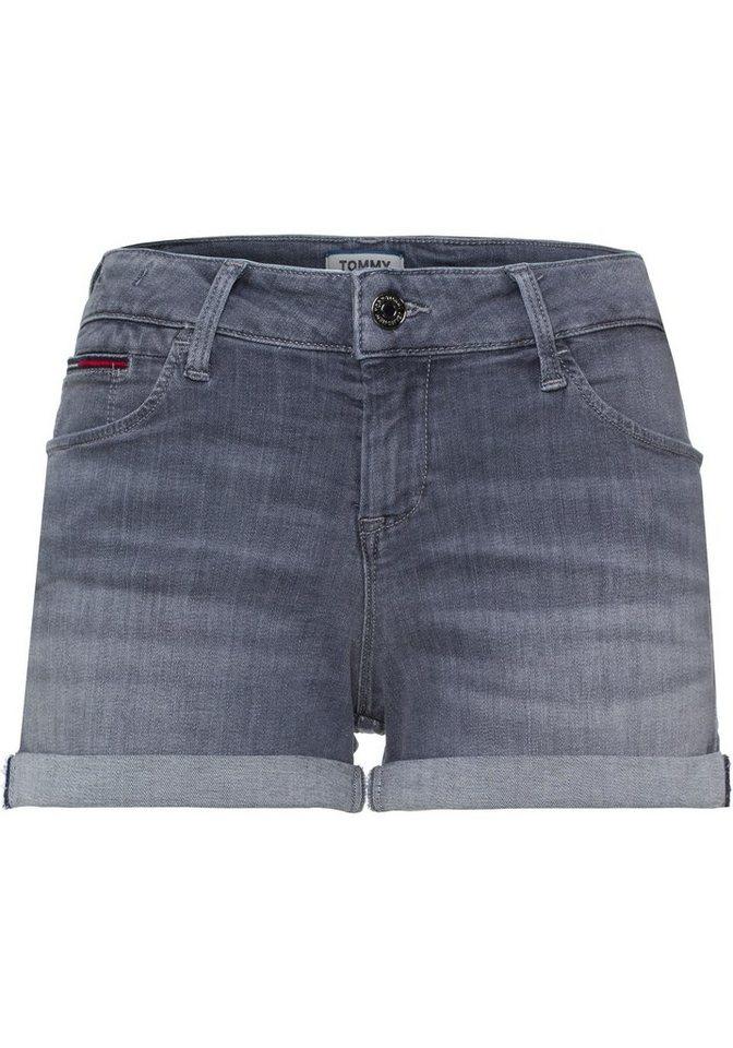 TOMMY JEANS Hotpants mit modischem Krempel